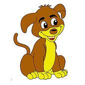Playful brown puppy dog