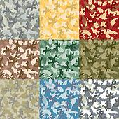Set of samples of a coloring of a c