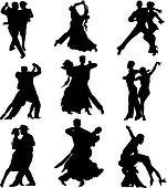 ballroom dancing - silhouette