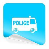police blue sticker icon