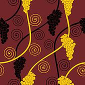 seamless abstract brown grape pattern