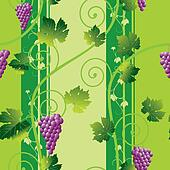 seamless pink grape pattern