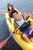 couple on kayak