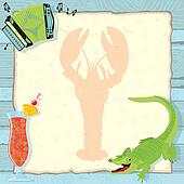 Cajun Lobster Boil Party Invitation