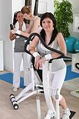Ladies in fitness club