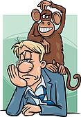 monkey on your back cartoon