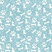 Green Doggy Tile Pattern Repeat Background