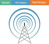 Radio Antenna Clip Art - Royalty Free - GoGraph