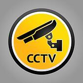 Surveillance camera warning symbols