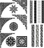 Arabic ornament corners and divider
