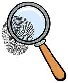Magnifying Glass With Fingerprint