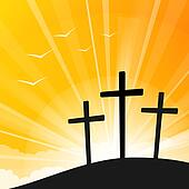 Easter style Three Crosses
