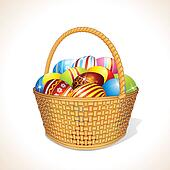 Vector Basket with Eggs