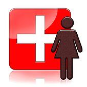 Woman health medical icon