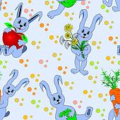 seamless pattern with hare