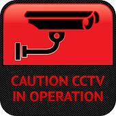 CCTV pictogram, video surveillance, symbol security camera