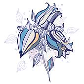 Beautiful flower. Hand drawn vector illustration
