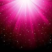Background of purple luminous rays. EPS 8