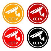 CCTV pictogram, set symbol security camera