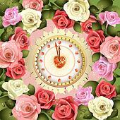 Clock design for Valentine's day