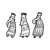 cartoon three kings