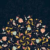 floral round lace background