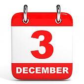 Calendar. 3 December.