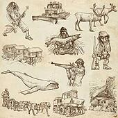Scandinavia travel - An hand drawn pack