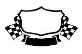 Vintage racing emblem