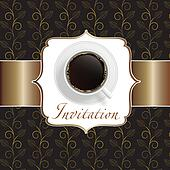 coffee invitation background