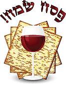 Happy passover - matza & wine
