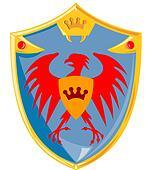 Eagle Crown Shield Retro