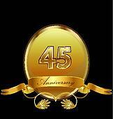 45th anniversary birthday seal