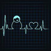 Heartbeat make a contact us icon