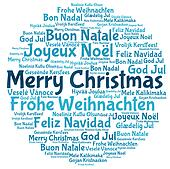 Merry christmas 2014 in tag cloud