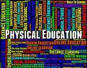 Physical Education Represents Gym Class And Athletics