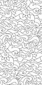 Decorative nature ornamental seamless pattern. Zen-tagle style