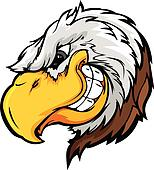 Eagle Mascot Head with Sly Expressi