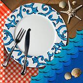 Table Arrangement for Seafood Menu
