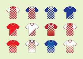 Croatian football jersey set