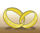 Linked Golden Wedding Rings