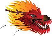 dragon head I color