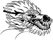 Dragon head bw I