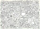 Doodle Sketch Elements Vector Set