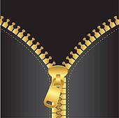 gold zip vector