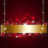 Holiday Valentine Golden Notice Background