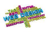 3d web design concept