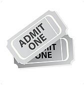 Cinema tickets isolated