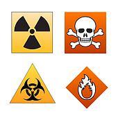 Danger symbols and signals