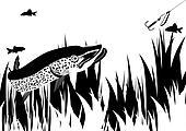 Pike and lure